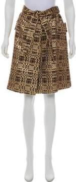 Barneys New York Barney's New York Tweed Belted Skirt w/ Tags