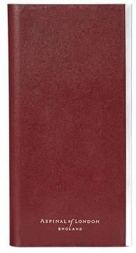 Aspinal of London   Iphone 6 Leather Book Case In Smooth Cognac Espresso Suede   Smooth cognac espresso suede