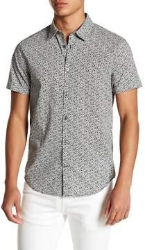 John Varvatos Collection Short Sleeve Woven Floral Print Shirt