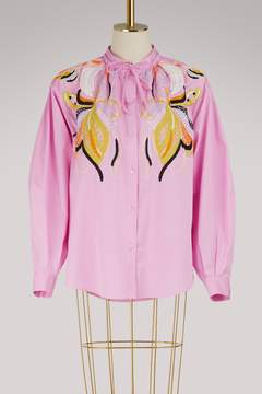 Emilio Pucci Popeline embroidered shirt