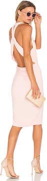 Bobi Deep V Mini Dress