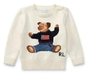 Polo Ralph Lauren Bear Cotton Sweater Warm White 6M
