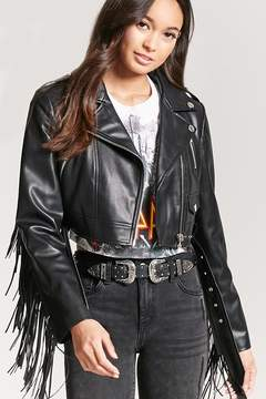 Forever 21 Fringe Faux Leather Jacket