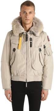 Parajumpers Gobi Down Bomber Jacket W/ Fur Trim