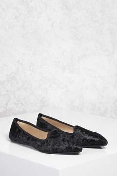 FOREVER 21 Crushed Velvet Loafers