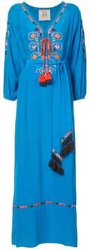 Figue Lulu embroidered maxi kaftan dress