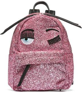 Chiara Ferragni Blinking Eyes Backpack From Pink Blinking Eyes Backpack With Top Handle, Top Zip Fastening, Front Zip Compartment, Internal Compartme
