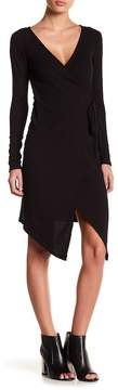 Dee Elly Ribbed Knit Wrap Dress