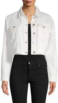 Bagatelle Women's Crop Denim Jacket