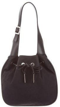 Gucci Nylon Drawstring Shoulder Bag - BLACK - STYLE