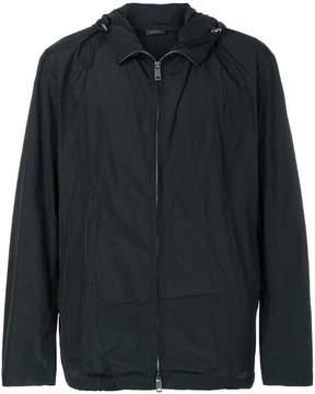 Jil Sander zip up hooded jacket
