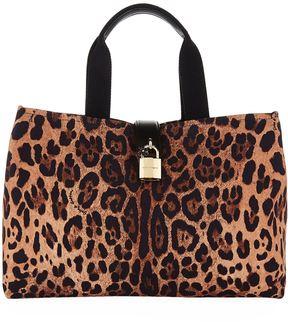 Dolce & Gabbana Leopard Print Canvas Tote Bag - MULTI - STYLE