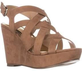 Thalia Sodi Ts35 Maddor Casual Wedge Sandals, Tan.