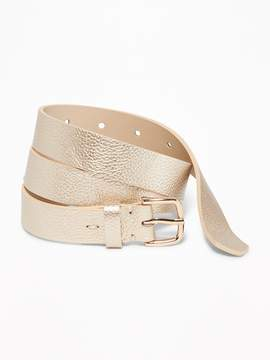 Old Navy Metallic Faux-Leather Belt for women