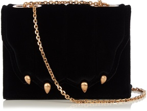 MARCO DE VINCENZO Paw-effect velvet cross-body bag