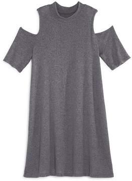 Aqua Girls' Cold-Shoulder Mock-Neck Dress, Big Kid - 100% Exclusive