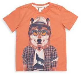Petit Lem Little Boy's Wolf Crewneck Tee