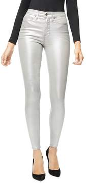 Good American Good Waist Metallic Jeans in Silver003
