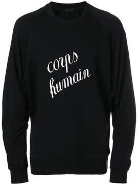Ann Demeulemeester Blanche Corps Humain print sweatshirt
