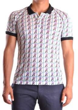 Galliano Men's Multicolor Linen Polo Shirt.