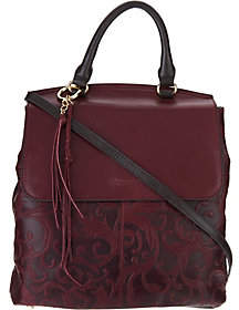 Tignanello As Is Vintage Leather Convertible Backpack-Carson
