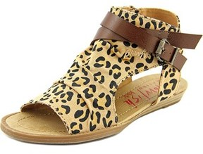 Blowfish Balla Youth Open Toe Canvas Brown Gladiator Sandal.