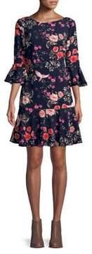 Eliza J Ruffled Floral Dress
