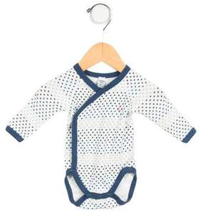 Petit Bateau Boys' Star Print Long Sleeve All-in-One