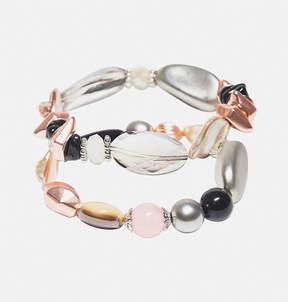 Avenue Blush Shell Stretch Bracelet Set
