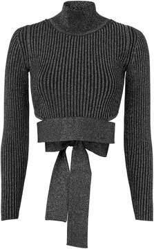 Cushnie et Ochs Waist Tie Cropped Sweater