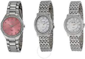 August Steiner Open Box - Dazzling Diamond Ladies Watch Set