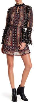 Angie Print Mock Neck Dress