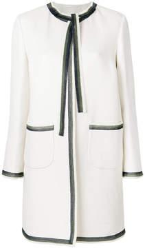 Ermanno Scervino contrast trim coat