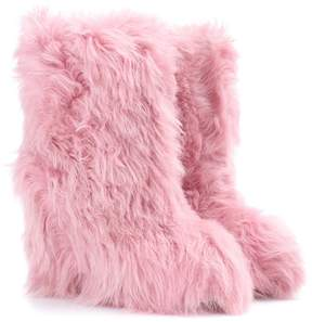 Moncler Exclusive to mytheresa.com – shearling wedge ankle boots