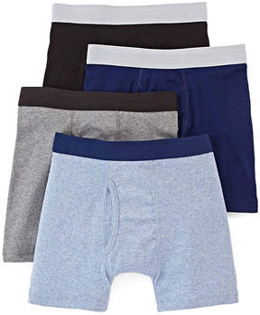 Arizona 4-pk. Boxer Briefs - Boys & Husky 4-20