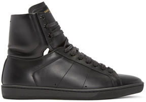 Saint Laurent Black SL-01 Court Classic High-Top Sneakers