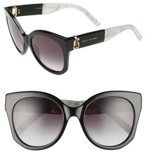 Marc Jacobs Women's 53Mm Gradient Lens Cat Eye Sunglasses - Black