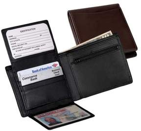 Royce Leather Commuter Bifold Wallet