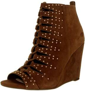 Jessica Simpson Women's Barlett Suede Canela Brown Ankle-High Boot - 6.5M