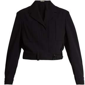 Bottega Veneta Belted wool cropped jacket