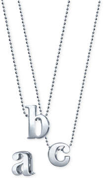 Alex Woo Little Letter by Initial Pendant Necklace in Sterling Silver