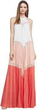 BCBGMAXAZRIA Alyson Sleeveless Color-Blocked Maxi Dress