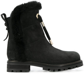 Twin-Set fur trimmed ankle boots