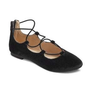 Stevies Girls' #ONPOINTE Laceup Ballet Flats