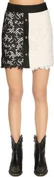 Fausto Puglisi Lace & Linen Mini Skirt