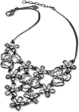 Amrita Singh Gunmetal Emily Floral Bib Necklace