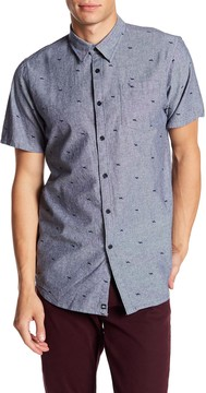 Micros Dewberry Short Sleeve Printed Woven Shirt