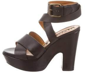 Rochas Wrap-Around Platform Sandals