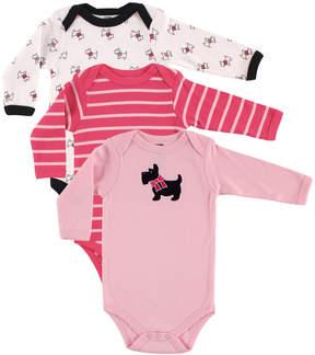 Hudson Baby Pink Scottie Dog Bodysuit Set - Infant