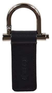 Tod's Men's Blue Leather Key Chain.